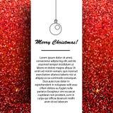 Calibre de conception de bannière de nouvelle année et de Noël Salutations saisonnières de vacances d'hiver sur le fond éclatant  illustration de vecteur