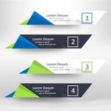 Calibre de conception de bannières de Web d'affaires moderne Images stock