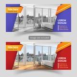 Calibre de conception de bannières de Web d'affaires moderne Image stock