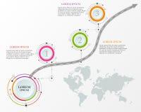 Calibre de conception : Chronologie d'affaires de carte de route Photo libre de droits