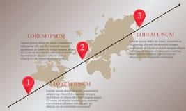 Calibre de conception : Chronologie d'affaires de carte de route Images libres de droits