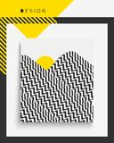 Calibre de conception de couverture Illustration de vecteur Le modèle peut être employé comme calibre pour la brochure illustration stock