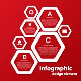 Calibre de conception d'Infographic Image stock