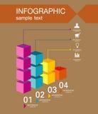 Calibre de conception d'Infographic avec l'illustration graphique d'ensemble d'éléments Dossier de vecteur dans les couches pour  Photo libre de droits
