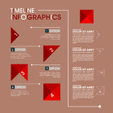 Calibre de conception d'Infographic avec l'illustration graphique d'ensemble d'éléments Dossier de vecteur dans les couches pour  Photos libres de droits
