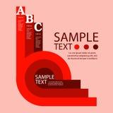 Calibre de conception d'Infographic avec l'illustration graphique d'ensemble d'éléments Dossier de vecteur dans les couches pour  Image stock