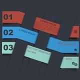 Calibre de conception d'Infographic avec les étiquettes de papier Images libres de droits