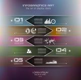Calibre de conception d'Infographic avec les étiquettes de papier Photographie stock libre de droits