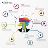 Calibre de conception d'Infographic Concept abstrait d'affaires Vecteur Photo stock