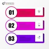 Calibre de conception d'Infographic Concept d'affaires avec 3 étapes Photo libre de droits