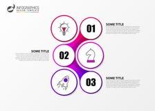 Calibre de conception d'Infographic Concept créatif avec 3 étapes Photographie stock
