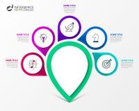 Calibre de conception d'Infographic Concept créatif avec 5 étapes Photo libre de droits