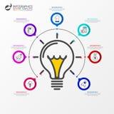 Calibre de conception d'Infographic Concept créatif avec 7 étapes Image libre de droits