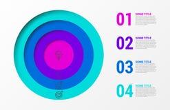 Calibre de conception d'Infographic Concept créatif avec 4 étapes Photographie stock libre de droits
