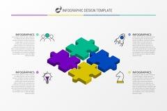 Calibre de conception d'Infographic Concept créatif avec 4 étapes illustration de vecteur