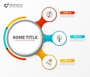 Calibre de conception d'Infographic Concept créatif avec 3 étapes illustration de vecteur