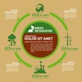 Calibre de conception d'Infographic d'écologie avec l'illustration graphique d'ensemble d'éléments Dossier de vecteur dans les co Image libre de droits