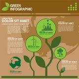 Calibre de conception d'Infographic d'écologie avec l'illustration graphique d'ensemble d'éléments Dossier de vecteur dans les co Photo libre de droits