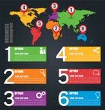 Calibre de conception d'Infographic d'affaires avec six nombres d'option et Image libre de droits