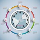 Calibre de conception d'Infographic de chronologie Photos stock