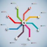 Calibre de conception d'Infographic de chronologie Photographie stock libre de droits