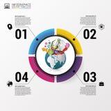 Calibre de conception d'Infographic Monde créateur Illustration de vecteur illustration de vecteur