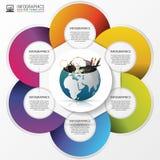 Calibre de conception d'Infographic Monde créateur Vecteur illustration libre de droits