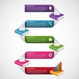 Calibre de conception d'Infographics d'option d'étape de livres d'éducation Photos stock