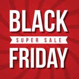 Calibre de conception d'inscription de vente de Black Friday Photo stock