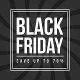 Calibre de conception d'inscription de vente de Black Friday Photographie stock