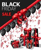Calibre de conception d'inscription de vente de Black Friday Bannière noire de vendredi Dirigez l'affiche de vente d'illustration illustration libre de droits