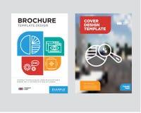 Calibre de conception d'insecte de brochure d'analyse de graphique circulaire Image libre de droits