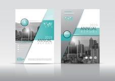 Calibre de conception d'insecte de brochure de couverture de rapport annuel  Images stock