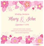 Calibre de conception d'invitation de mariage Photo stock