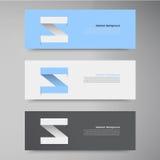 Calibre de conception de bannière de vecteur. flèche de label Photo stock
