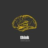 Calibre de conception de Brain Logo illustration stock