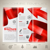 Calibre de conception de brochure Photo libre de droits