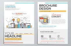 Calibre de conception de brochure Photo libre de droits