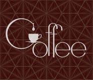 Calibre de conception de café Illustration de vecteur plate Image stock