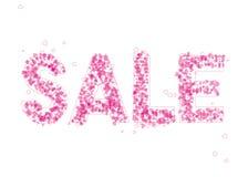 Calibre de conception de ` de vente de ` avec des coeurs Photo stock