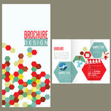 Calibre de conception de disposition de brochure Photo libre de droits