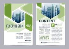Calibre de conception de disposition de brochure de verdure Présentation de couverture de tract d'insecte de rapport annuel  Photo libre de droits