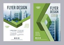Calibre de conception de disposition de brochure de verdure Présentation de couverture de tract d'insecte de rapport annuel  Image stock