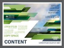 Calibre de conception de disposition de présentation de verdure Page de couverture de rapport annuel  Photos stock