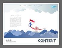 Calibre de conception de disposition de présentation, utilisation dans la direction d'affaires et concept de succès, homme d'affa illustration stock