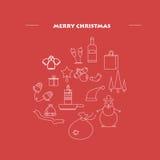Calibre de conception de la bonne année 2017, composition sous la forme sous forme de boule, minimalisme Image stock
