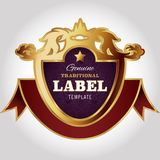 Calibre de conception de label image stock
