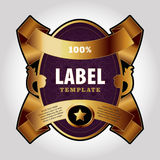 Calibre de conception de label Photos libres de droits
