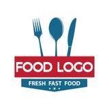 Calibre de conception de logo de nourriture Photos stock