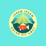 Calibre de conception de logo de poissons Natation abstraite de poissons Image stock